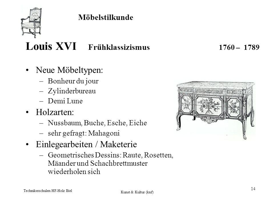 Louis XVI Frühklassizismus 1760 – 1789