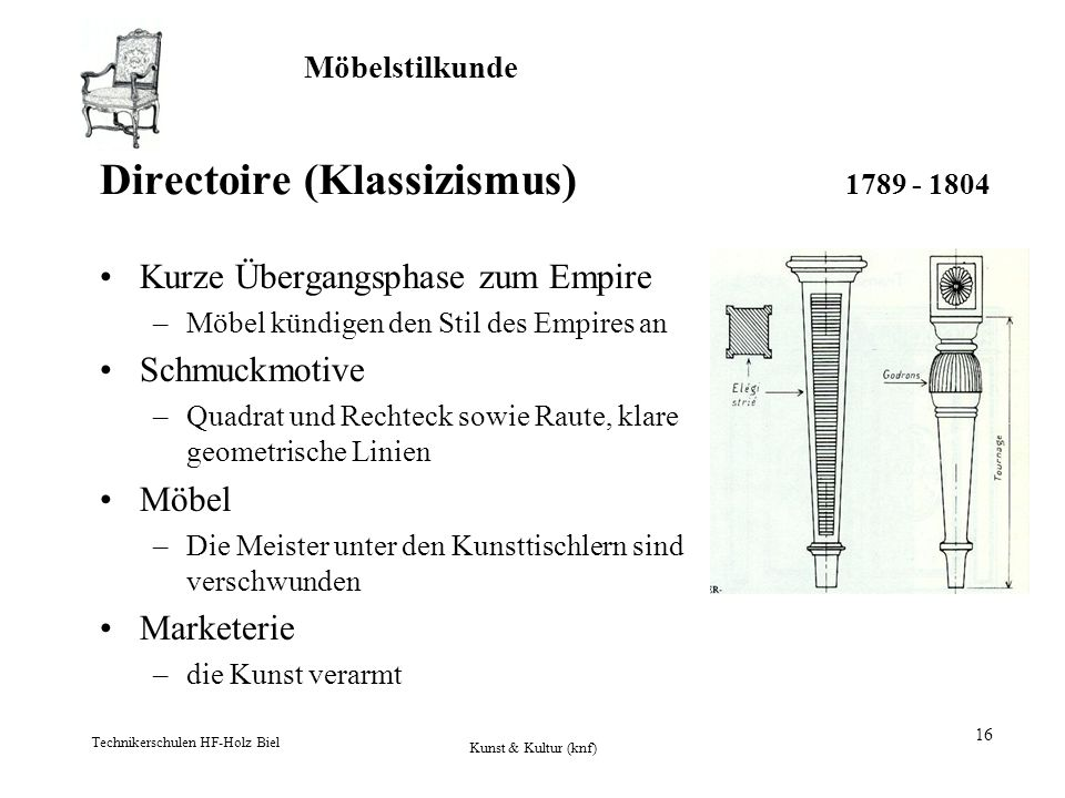Directoire (Klassizismus) 1789 - 1804