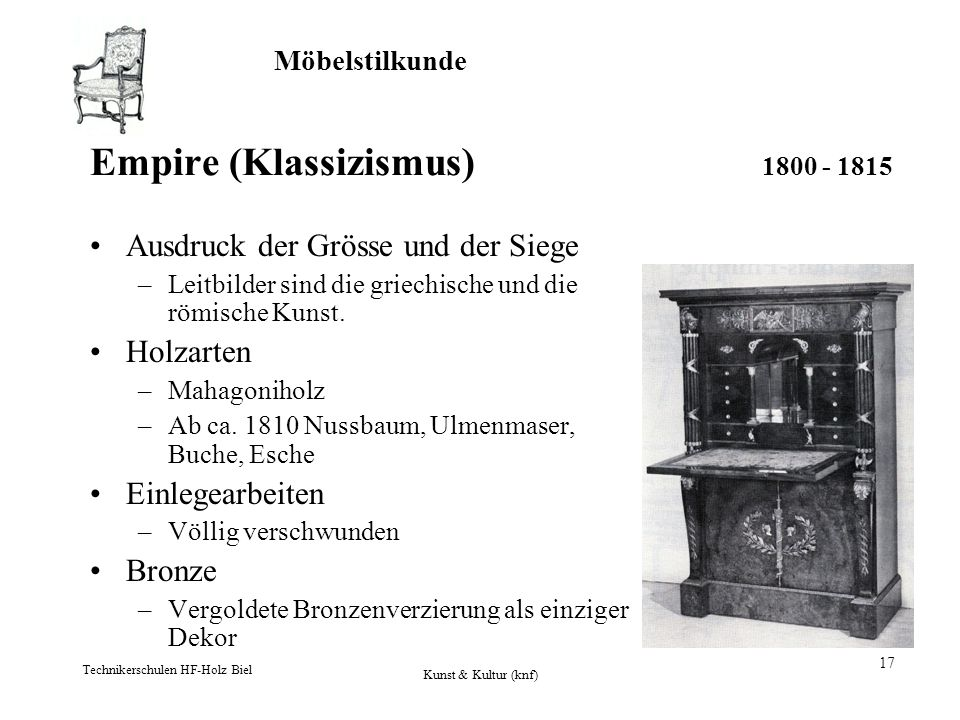 Empire (Klassizismus) 1800 - 1815