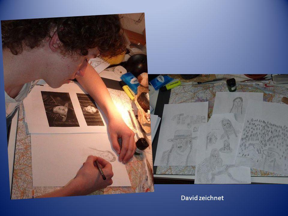 David zeichnet