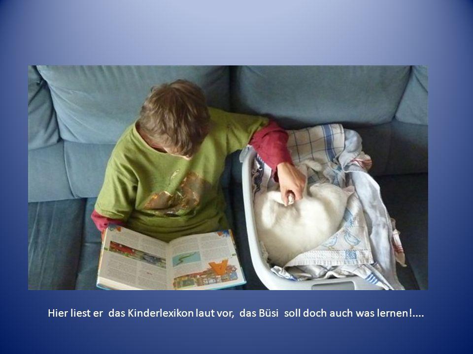Kinderduden vorlesen Hier liest er das Kinderlexikon laut vor, das Büsi soll doch auch was lernen!....