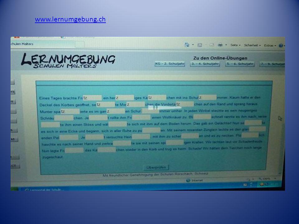 www.lernumgebung.ch tz oder z