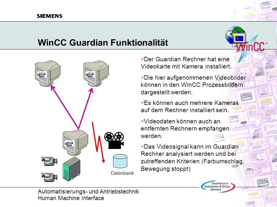 WinCC Guardian Funktionalität