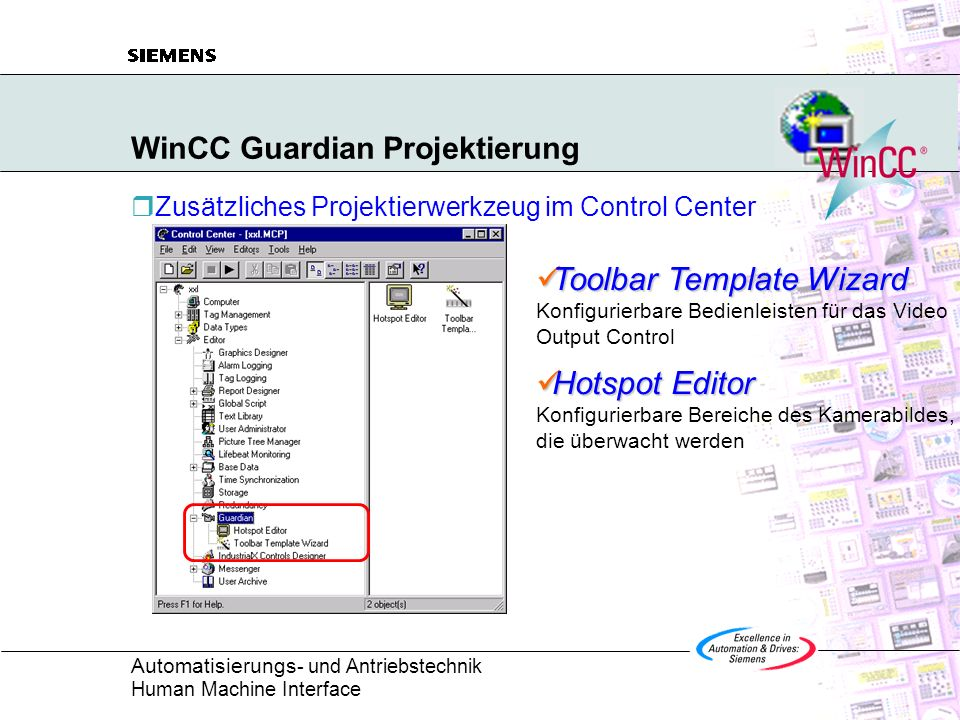 WinCC Guardian Projektierung