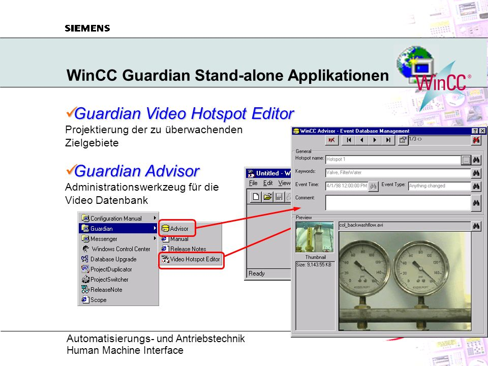 WinCC Guardian Stand-alone Applikationen