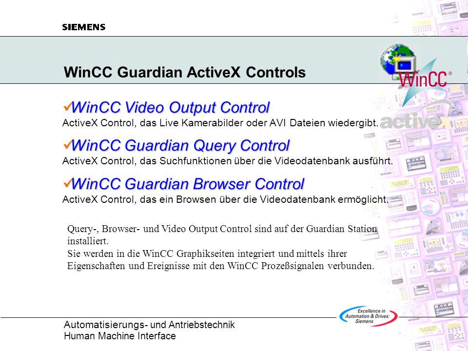 WinCC Guardian ActiveX Controls