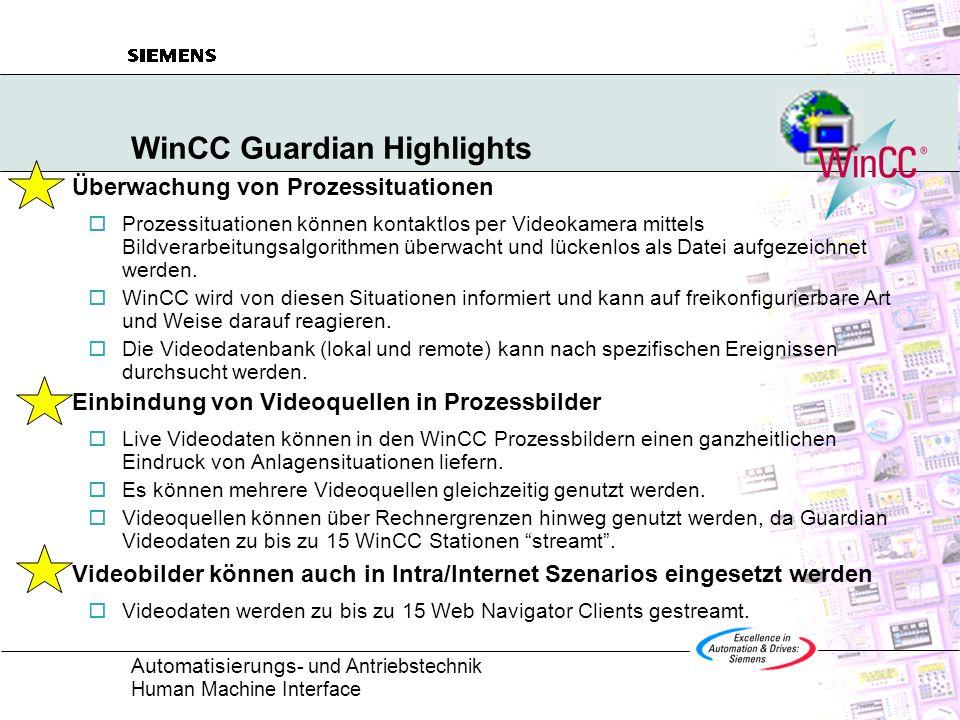 WinCC Guardian Highlights
