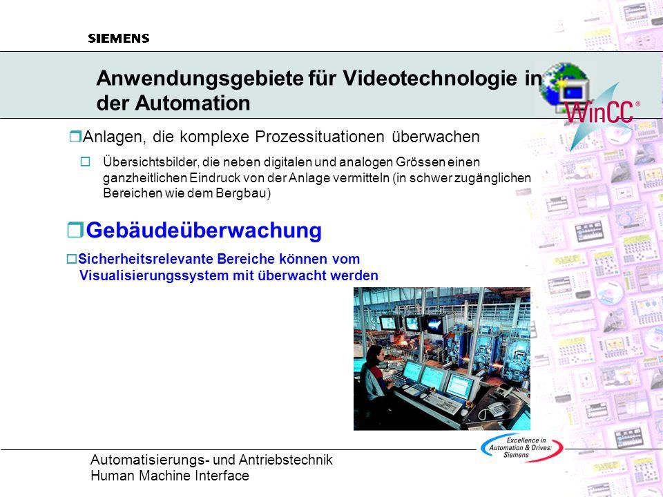 Anwendungsgebiete für Videotechnologie in der Automation