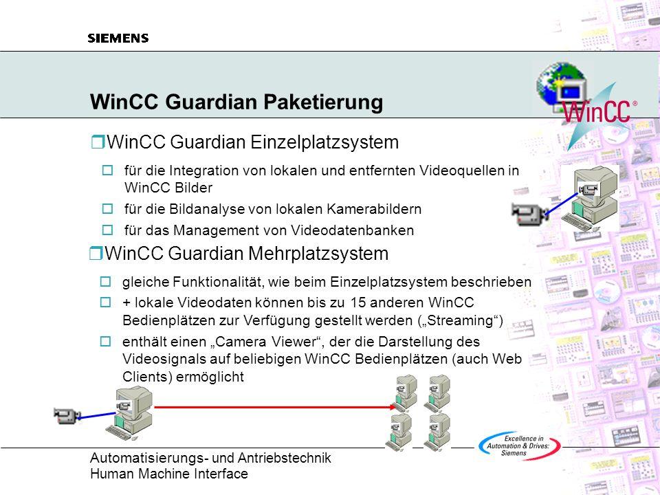 WinCC Guardian Paketierung