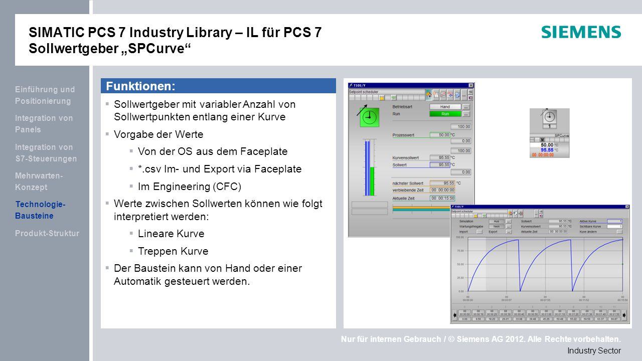 "SIMATIC PCS 7 Industry Library – IL für PCS 7 Sollwertgeber ""SPCurve"