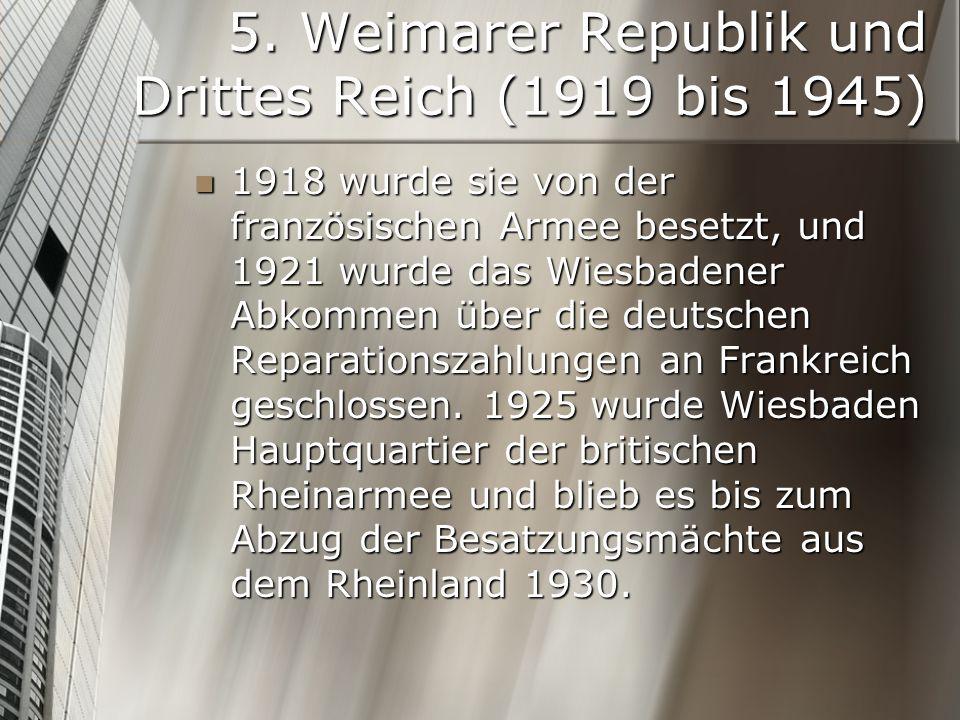 5. Weimarer Republik und Drittes Reich (1919 bis 1945)