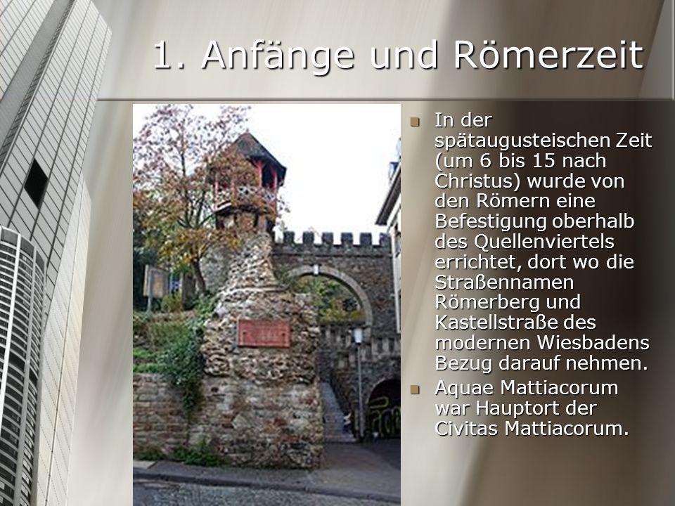 1. Anfänge und Römerzeit