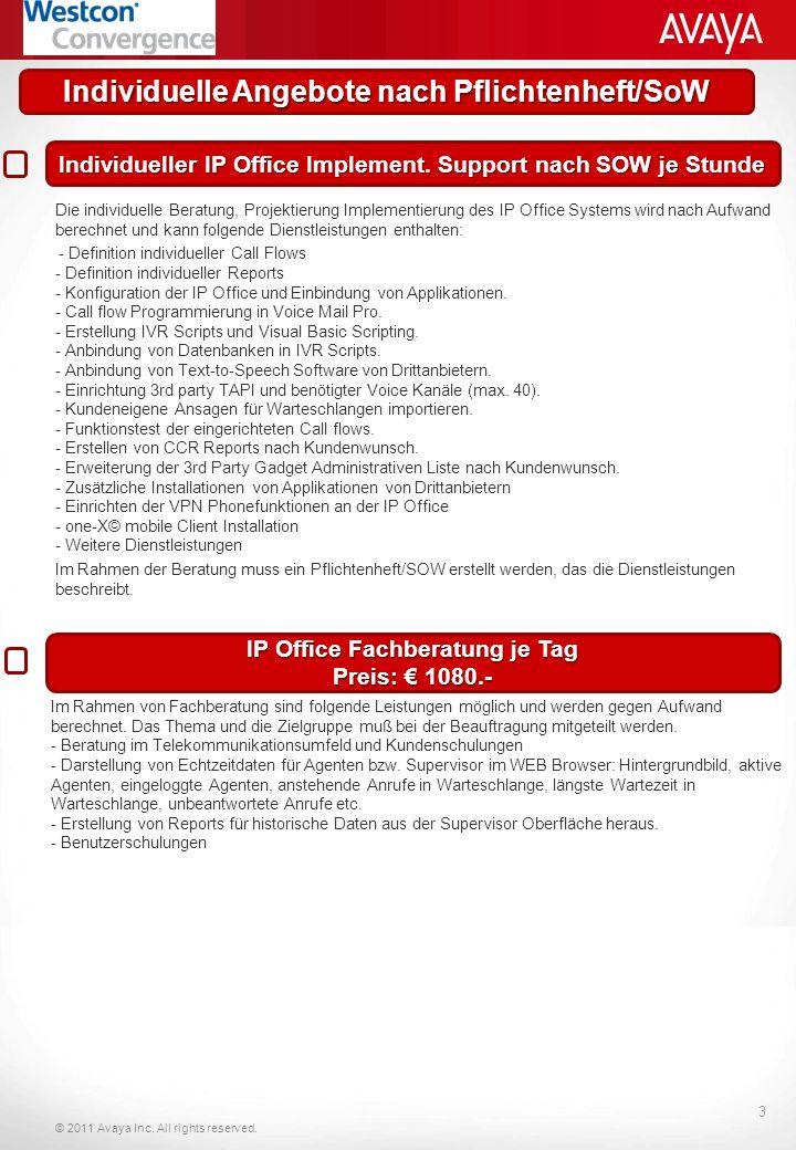 Individuelle Angebote nach Pflichtenheft/SoW