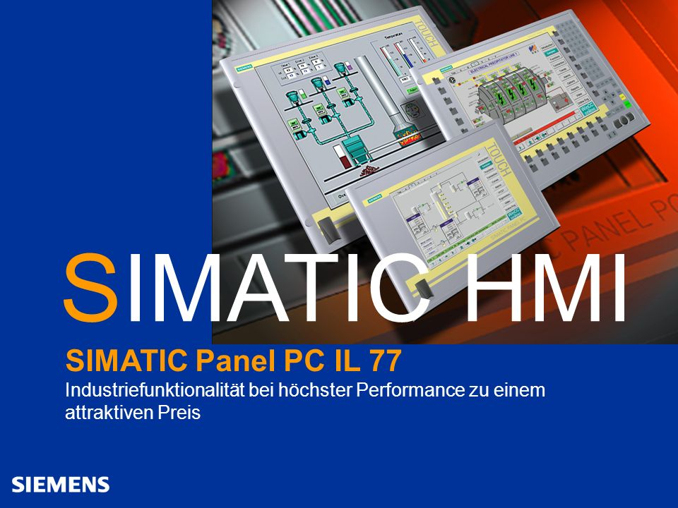 SIMATIC HMI SIMATIC Panel PC IL 77