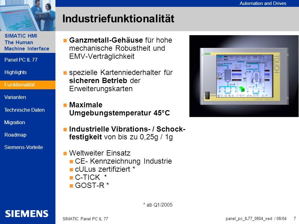 Industriefunktionalität