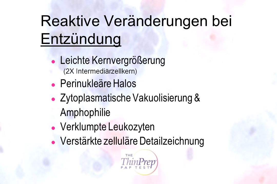 Reaktive Veränderungen bei Entzündung