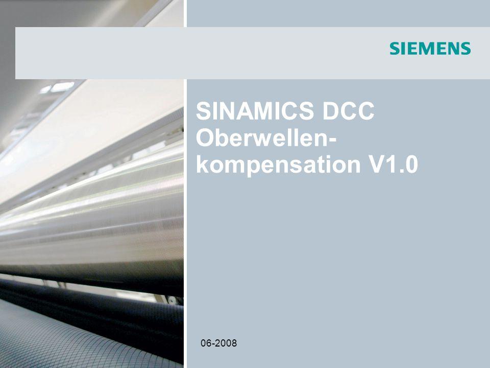 SINAMICS DCC Oberwellen-kompensation V1.0