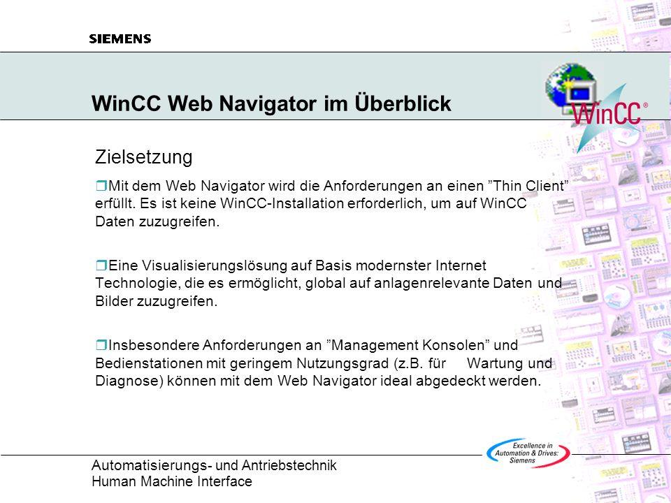WinCC Web Navigator im Überblick