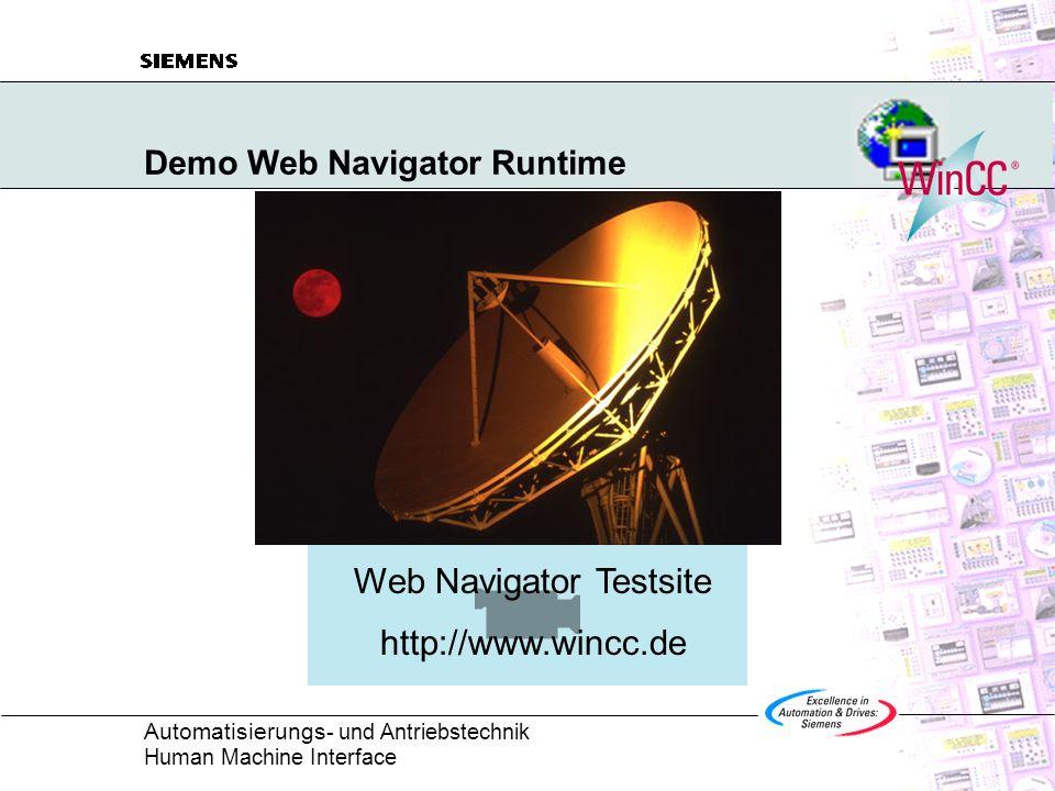 Demo Web Navigator Runtime