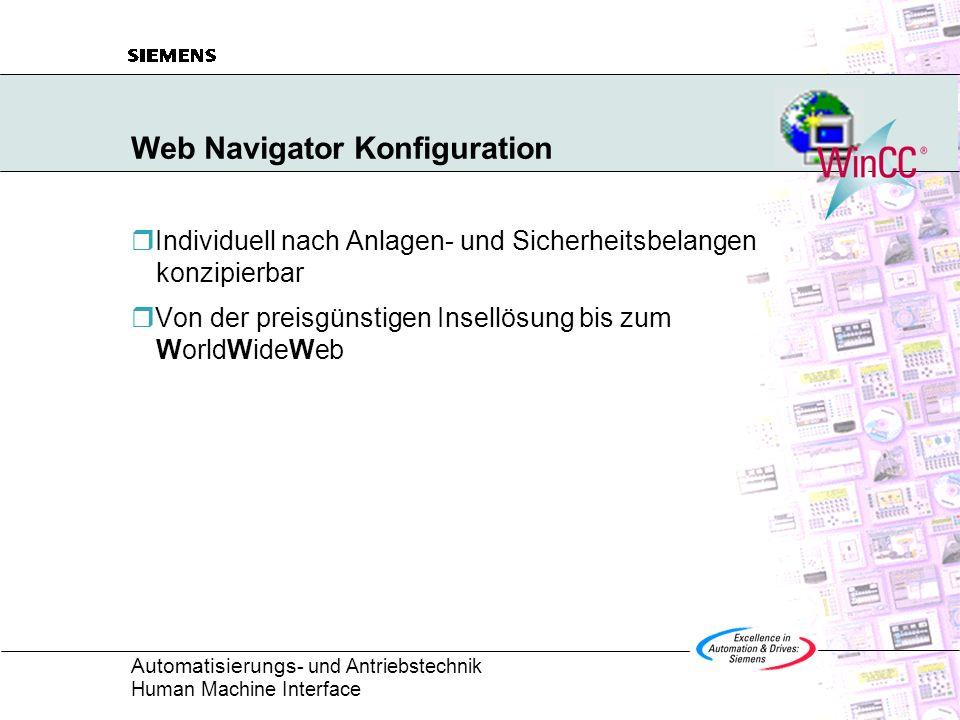 Web Navigator Konfiguration