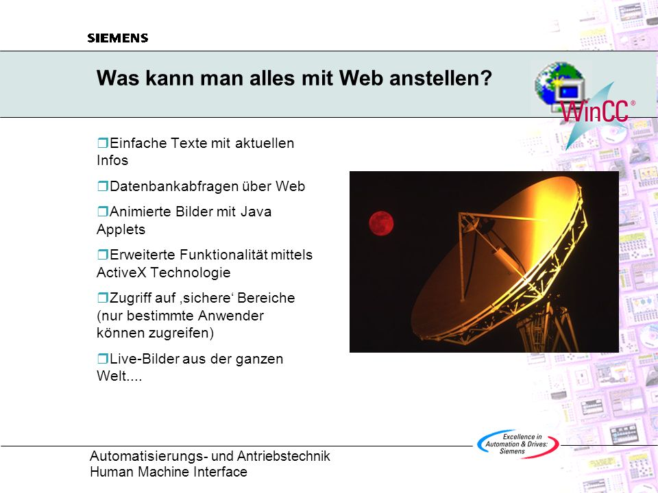Was kann man alles mit Web anstellen
