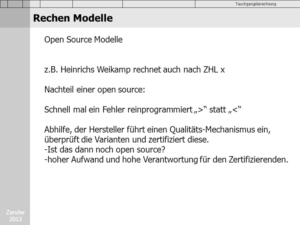 Rechen Modelle Open Source Modelle