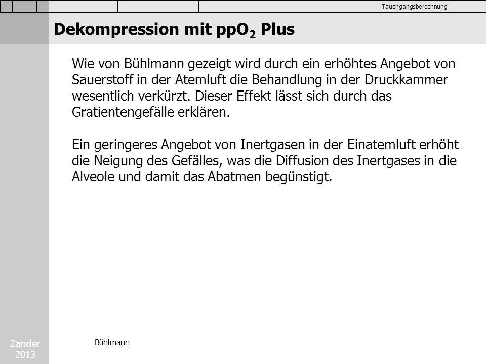 Dekompression mit ppO2 Plus