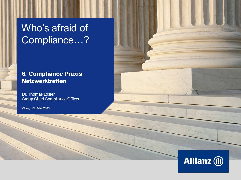 Who's afraid of Compliance…