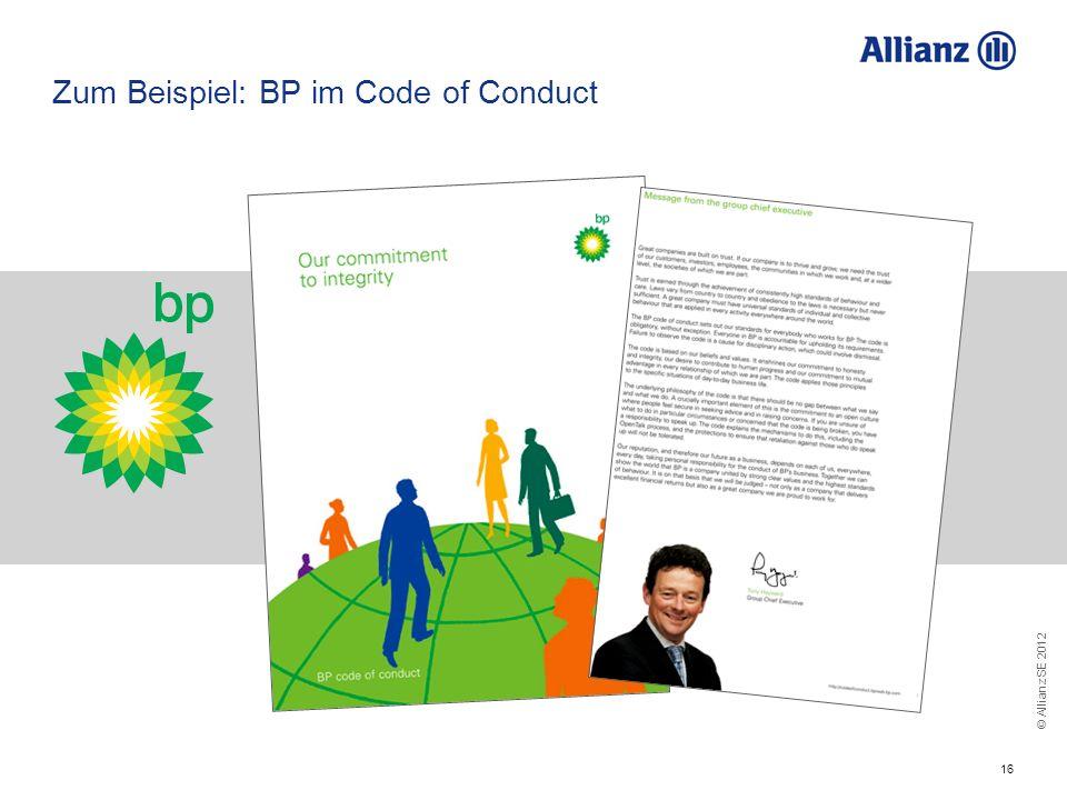 Zum Beispiel: BP im Code of Conduct