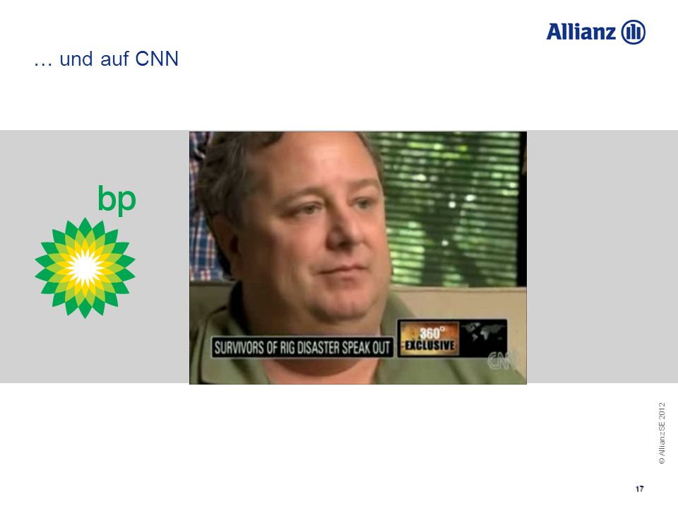 … und auf CNN You can use this if you choose not to use the video in the foregoing slide. The message is the same: