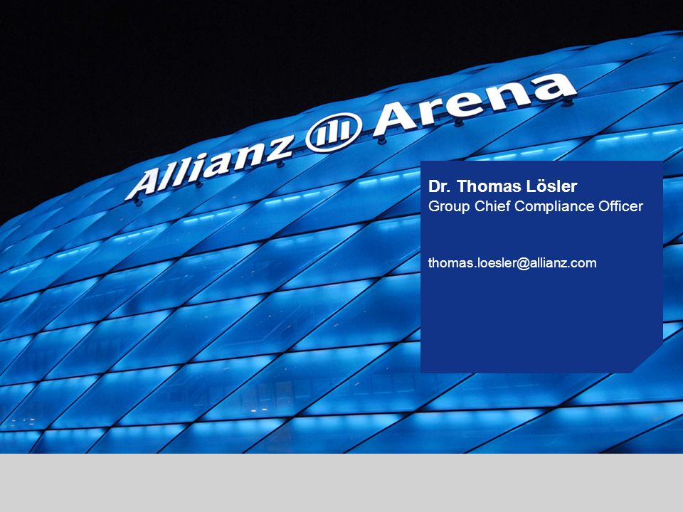Dr. Thomas Lösler Group Chief Compliance Officer