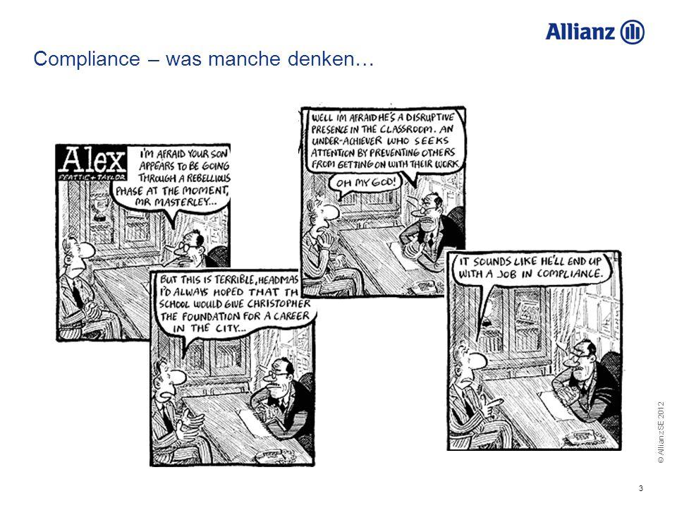 Compliance – was manche denken…