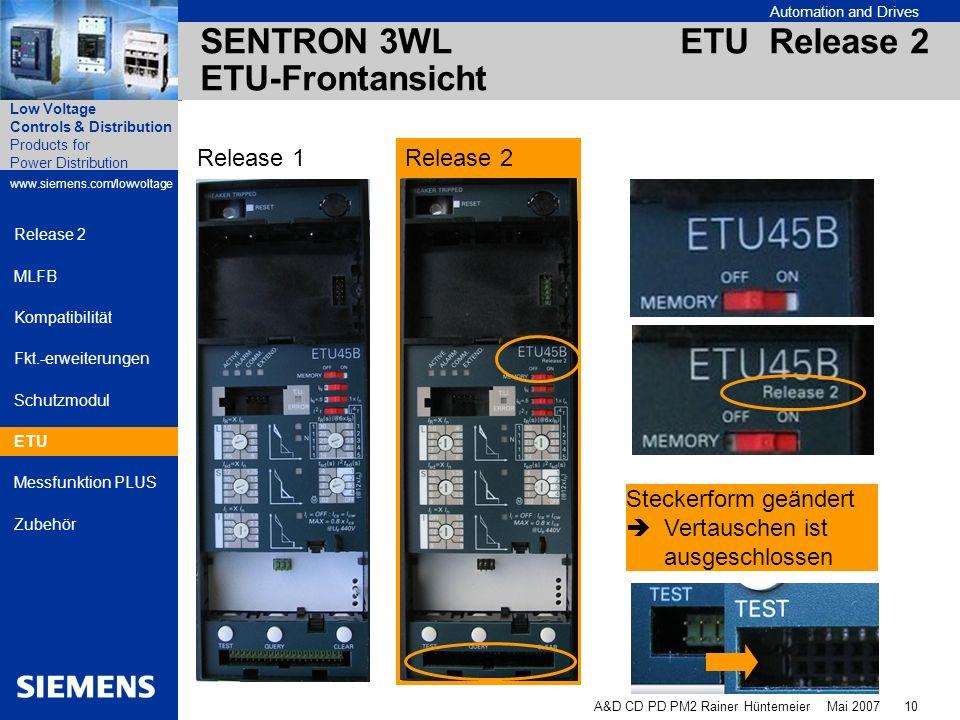 SENTRON 3WL ETU Release 2 ETU-Frontansicht
