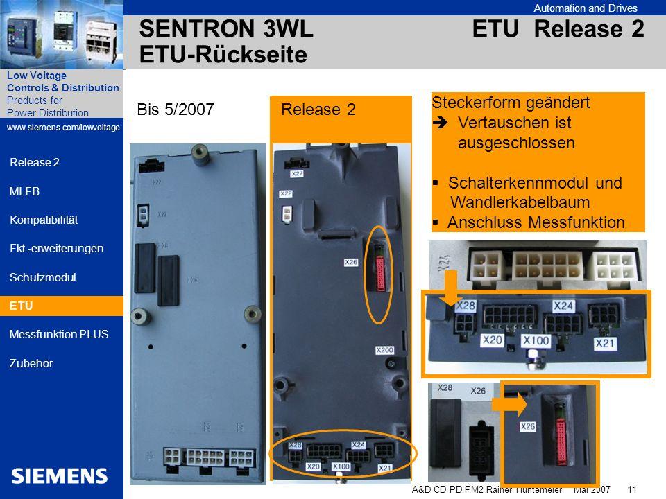 SENTRON 3WL ETU Release 2 ETU-Rückseite