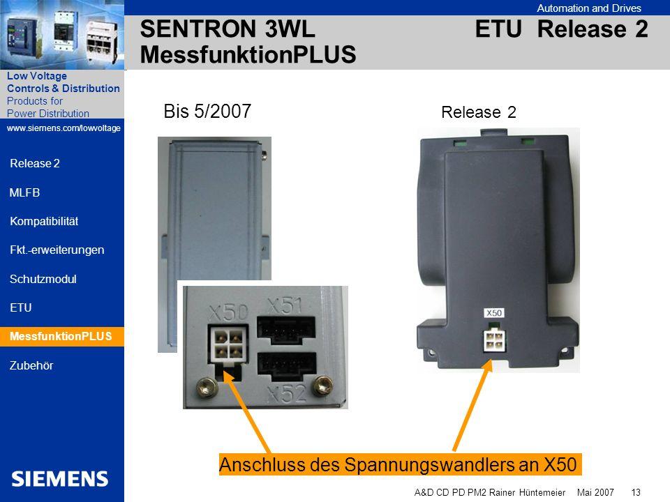 SENTRON 3WL ETU Release 2 MessfunktionPLUS
