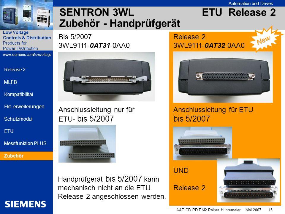 SENTRON 3WL ETU Release 2 Zubehör - Handprüfgerät