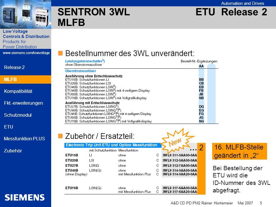 SENTRON 3WL ETU Release 2 MLFB