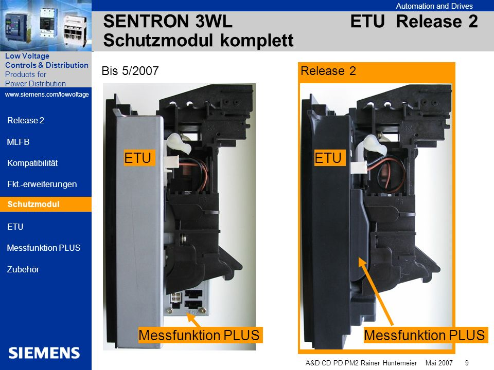 SENTRON 3WL ETU Release 2 Schutzmodul komplett