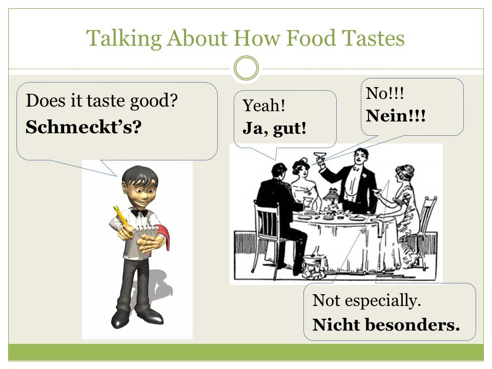 Talking About How Food Tastes