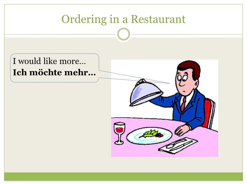 Ordering in a Restaurant