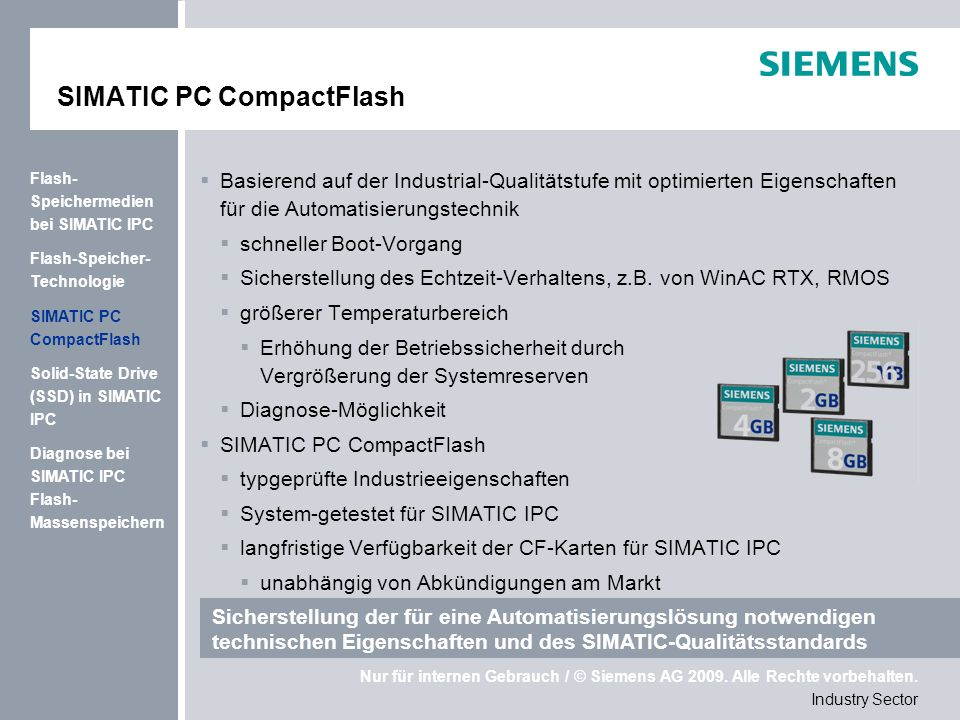SIMATIC PC CompactFlash