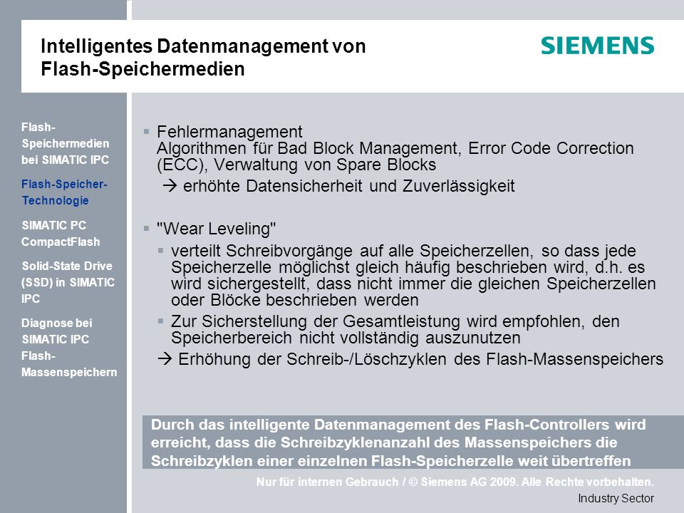 Intelligentes Datenmanagement von Flash-Speichermedien