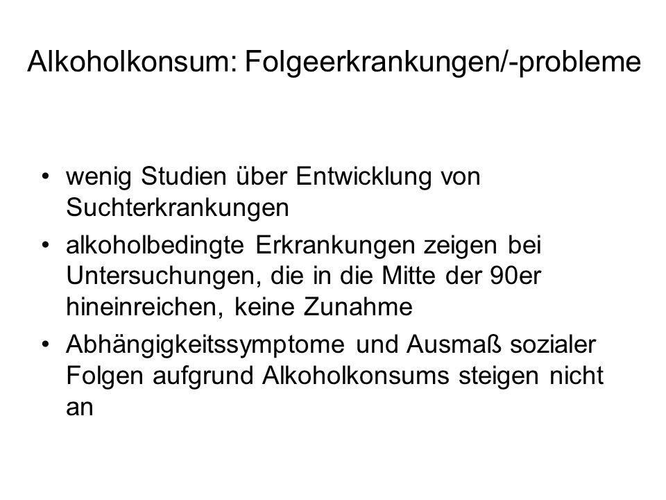 Alkoholkonsum: Folgeerkrankungen/-probleme