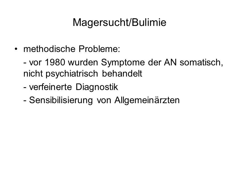 Magersucht/Bulimie methodische Probleme: