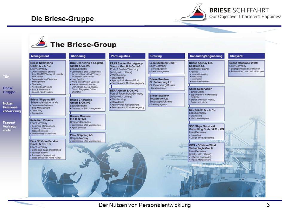 Die Briese-Gruppe Titel Briese Gruppe Nutzen Personal- entwicklung