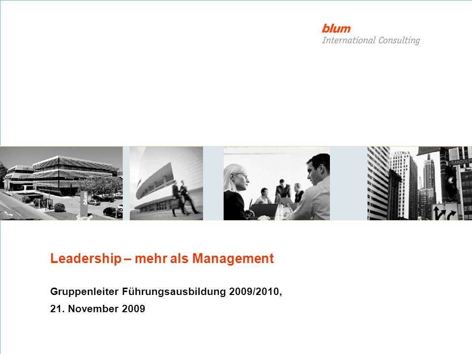 Leadership – mehr als Management