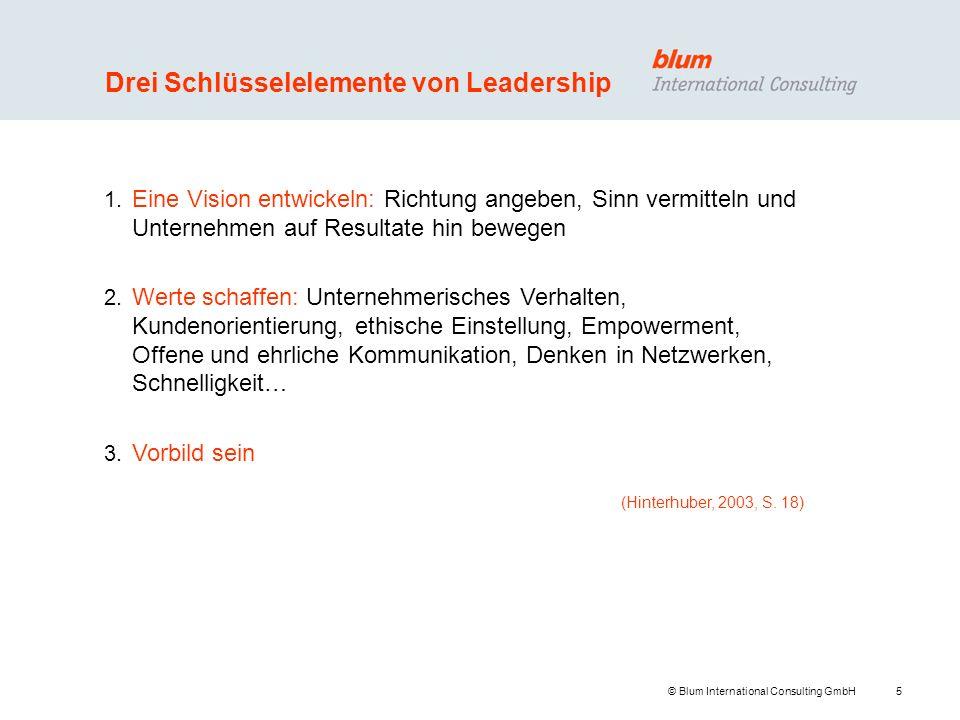 Drei Schlüsselelemente von Leadership