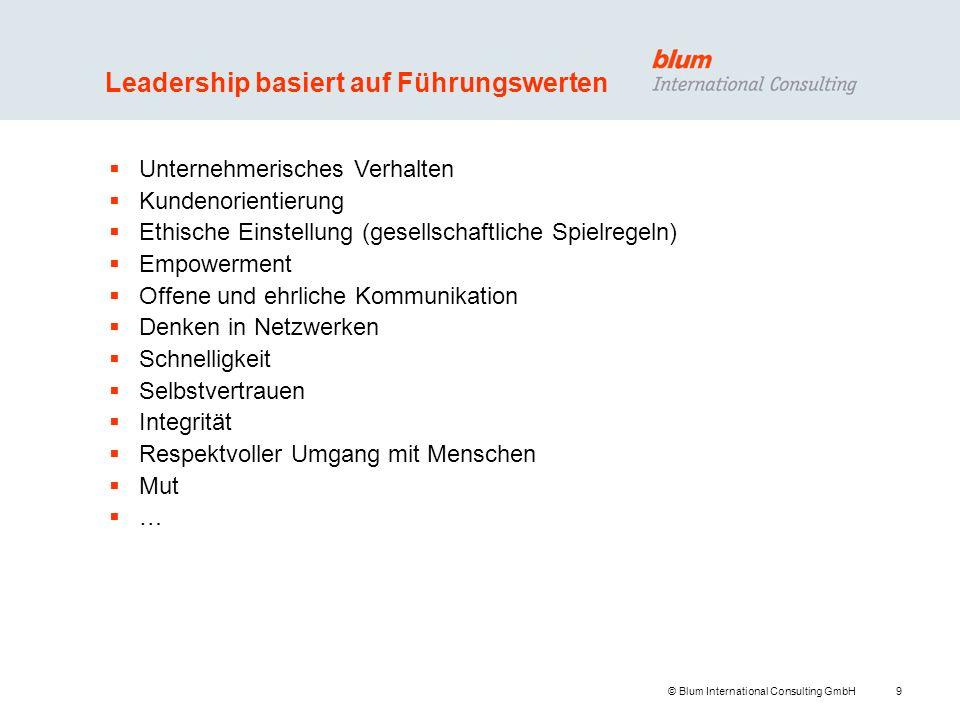 Leadership basiert auf Führungswerten