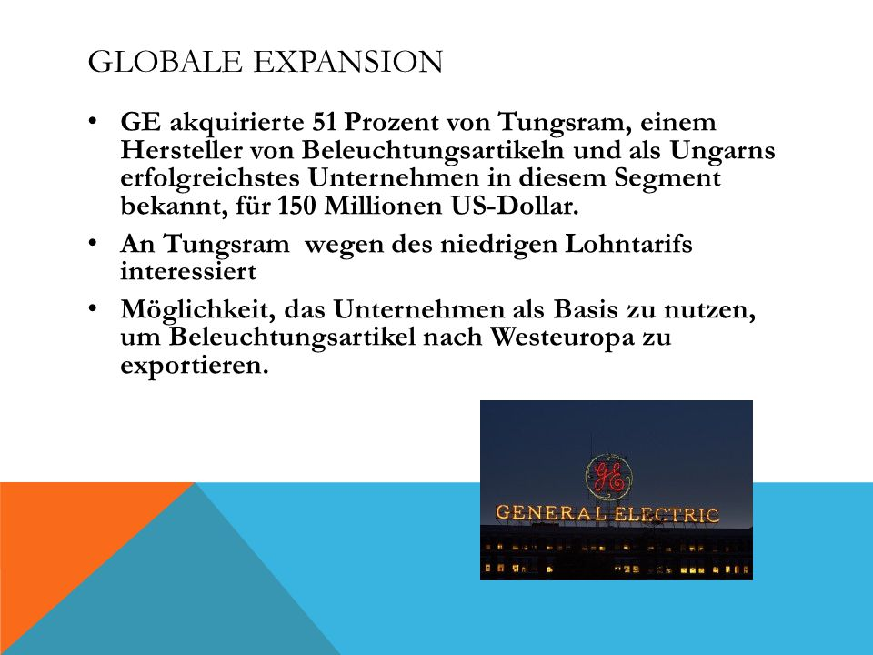 Globale Expansion
