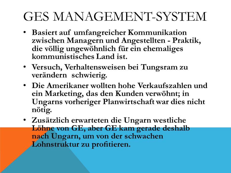 GEs Management-System